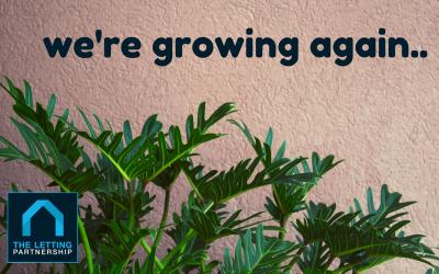 We're growing again..